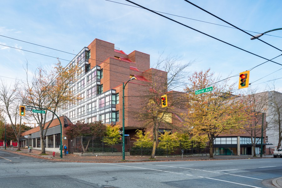 the bloom group housing 250 powell street the view downtown eastside